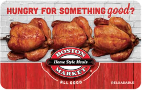 $50 Boston Market Gift Card  $42.50 + Free Shipping