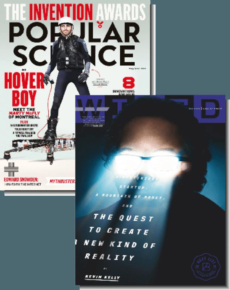 2-Magazine Bundle: Wired & Popular Science  $8/yr