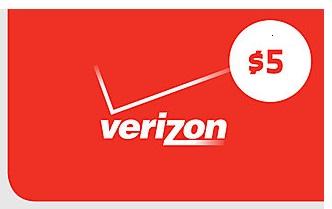 Verizon Smart Rewards Members: $5 Verizon Wireless Gift Card  500 Points + Free S&H (VZW Customers Only)