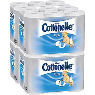 48-Rolls of Cottonelle Ultra Soft Standard Roll Bathroom Tissue / Toilet Paper for $13.80 at Staples