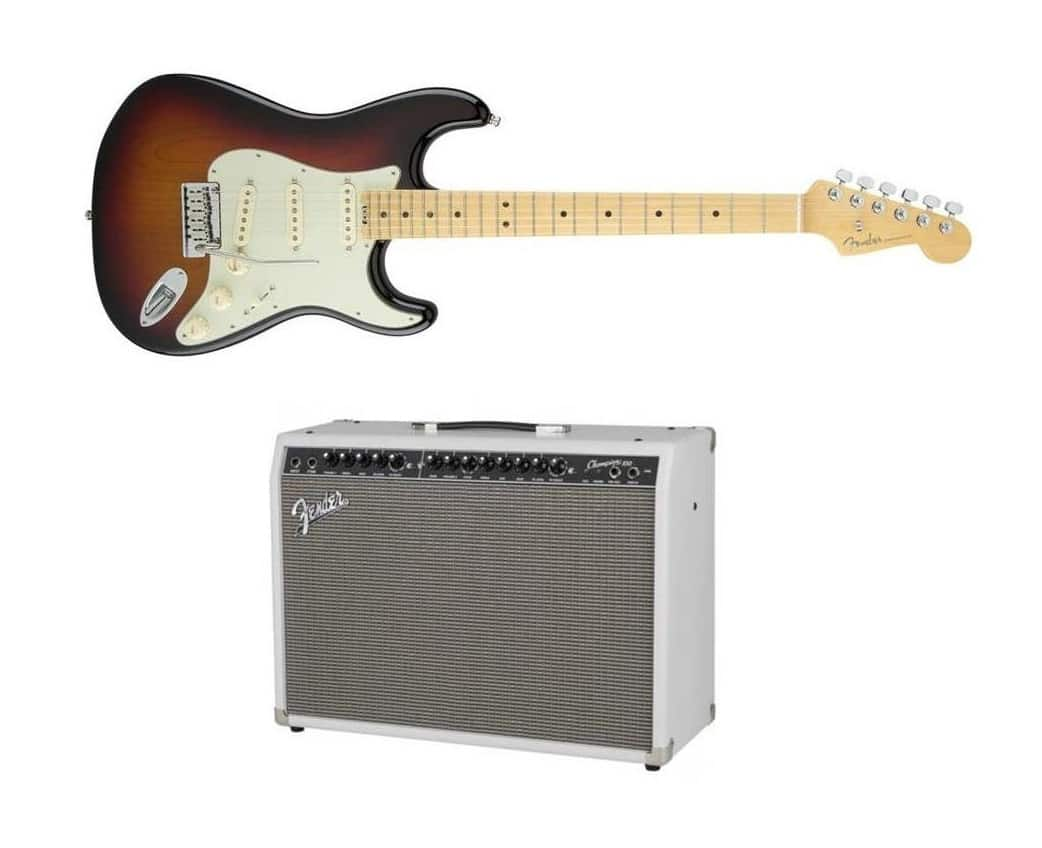 Fender American Elite Stratocaster Electric Guitar + Champion 100 100w Amplifier  $1449 + Free Shipping