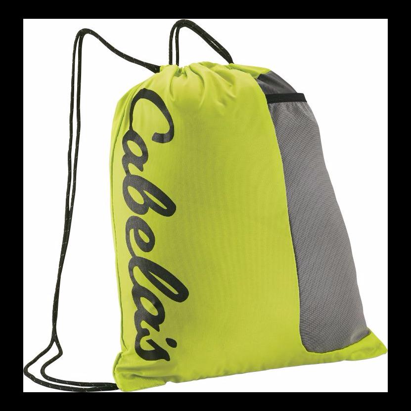 Cabela's Cinchsack II Drawstring Backpack (black/red)  $5.30 + Free Shipping