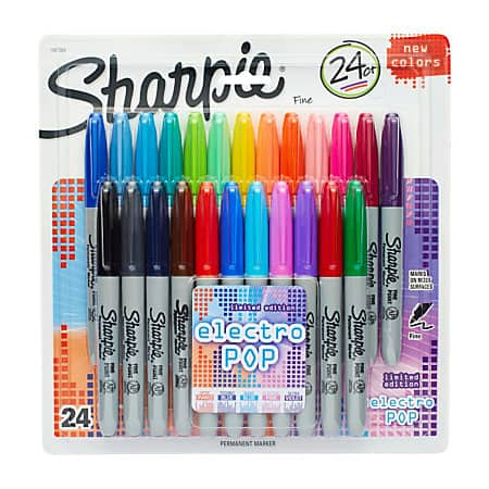 24-Count Sharpie Permanent Markers (Fine or Ultra Fine Point)  $8 + Free Store Pickup
