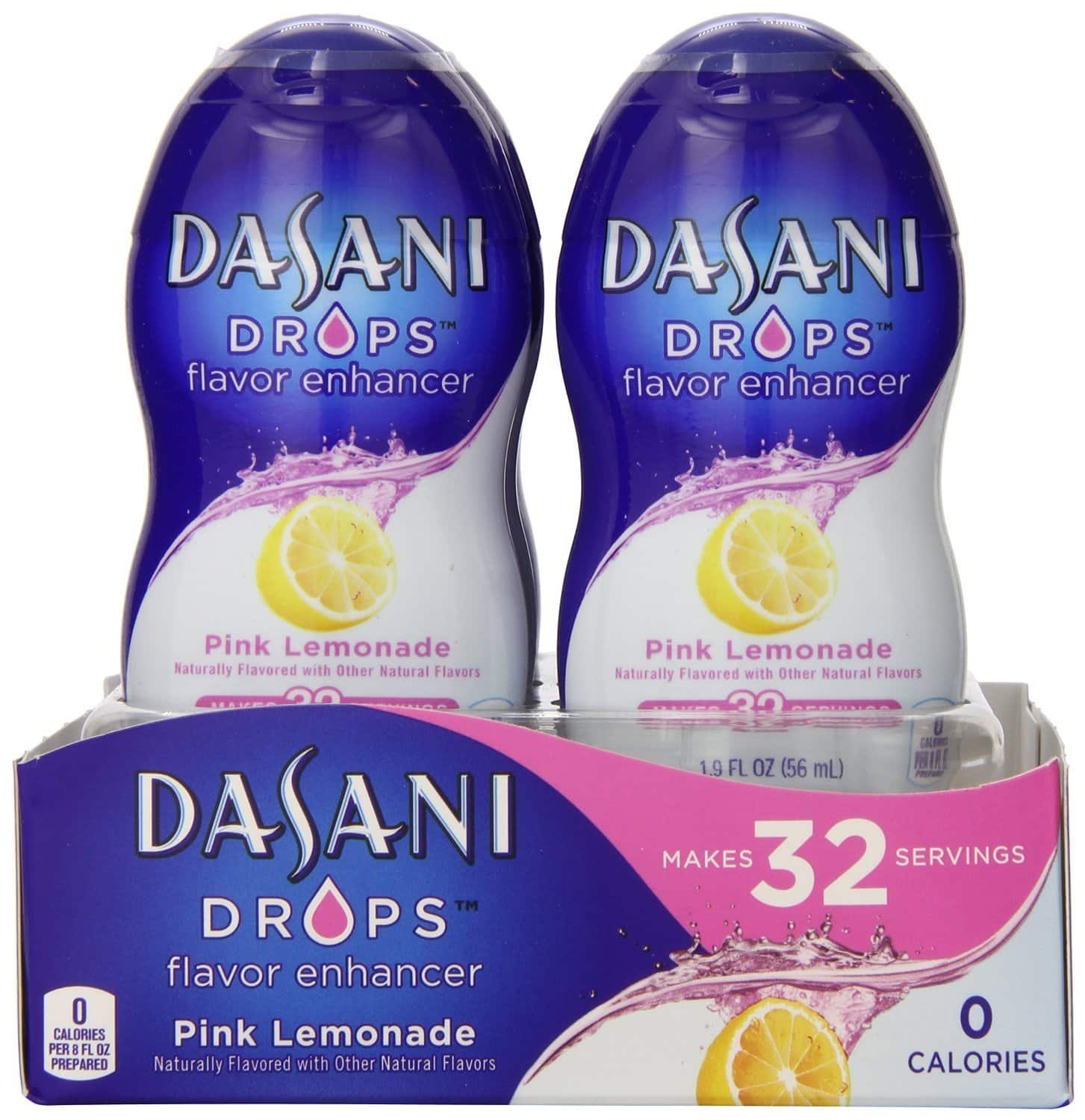 Prime Deal - Dasani DROPS Pink Lemonade, 6 ct, 1.9 FL OZ Bottle - $6.52 @5% or $4.66 @15% with Coupon & S&S