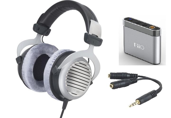 Beyerdynamic DT 990 Premium Headphones + FiiO A1 Portable Amp Bundle  $149 + Free Shipping