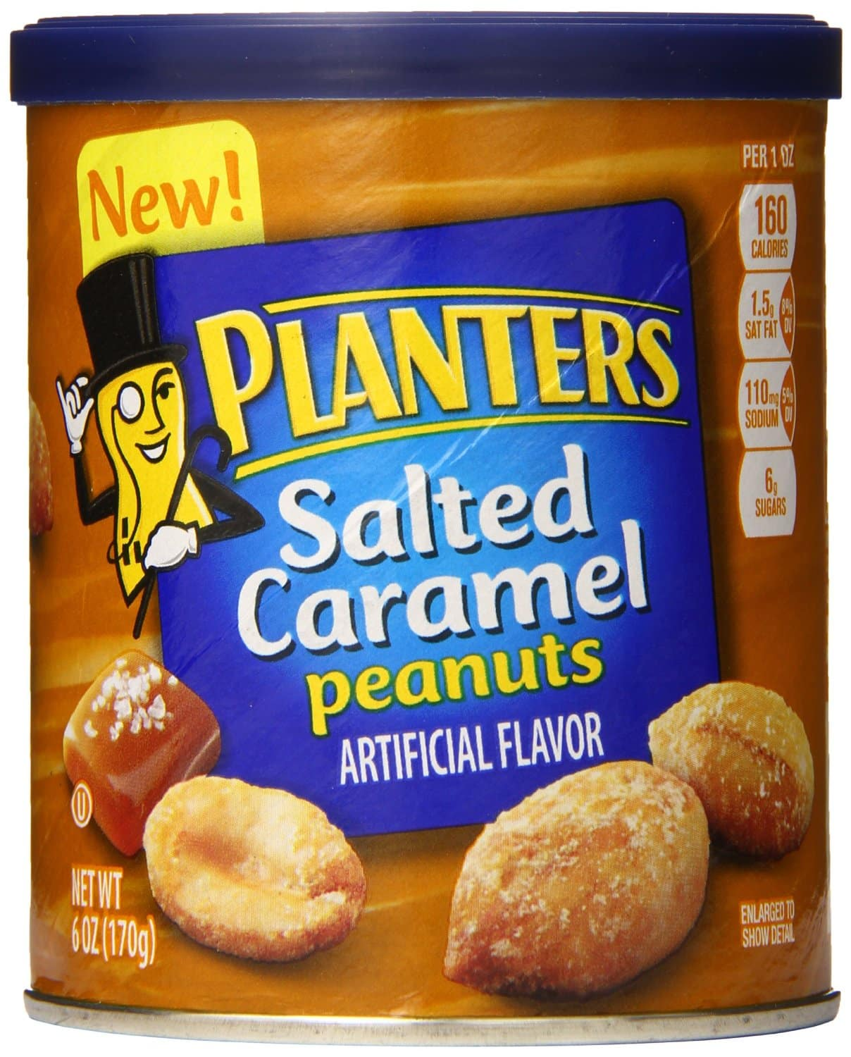 Prime Members: 8-Pack of 6oz Planters Peanuts (Salted Caramel)  $8.30 + Free Shipping