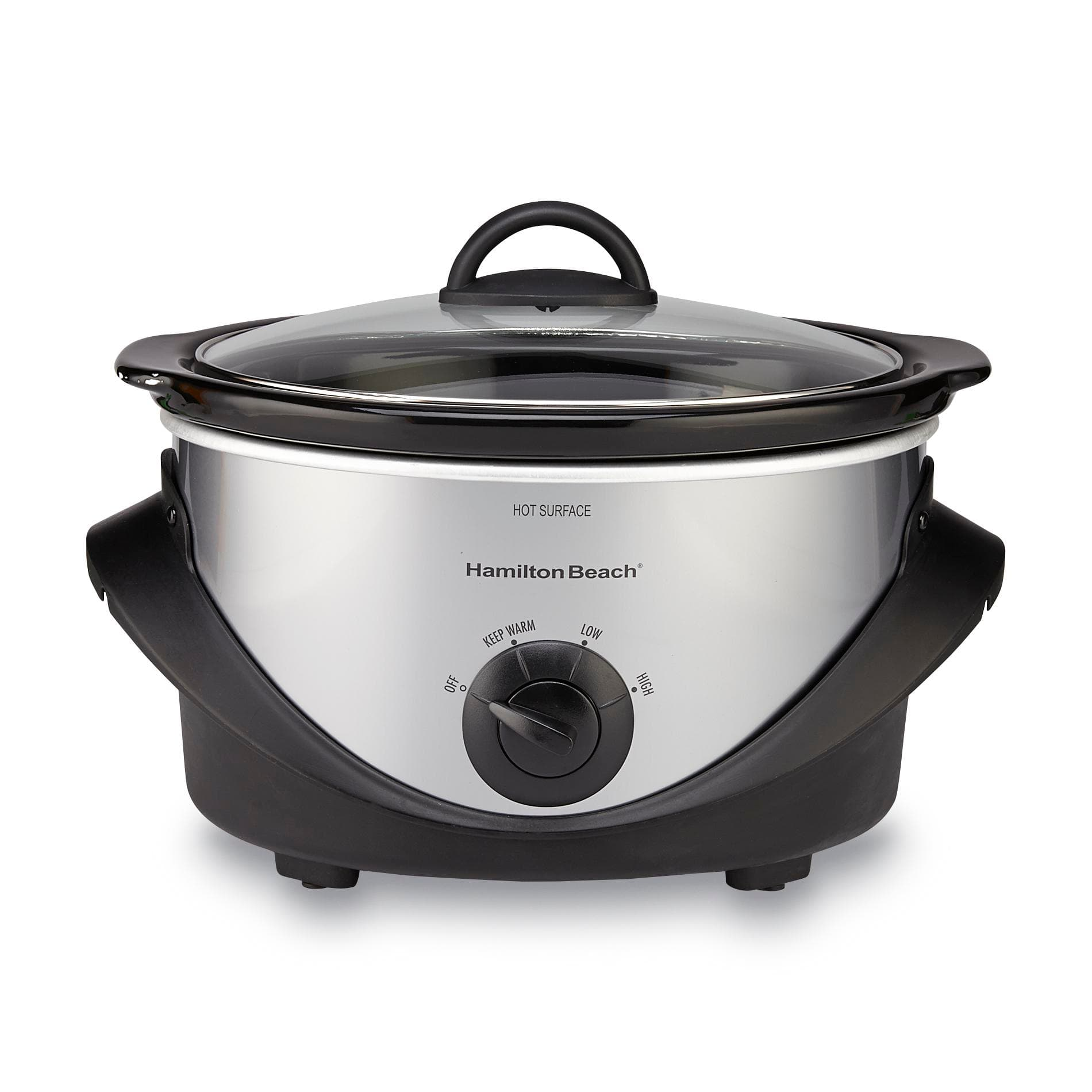 4-Quart Hamilton Beach Stainless Steel Slow Cooker  $10 + Free Store Pickup