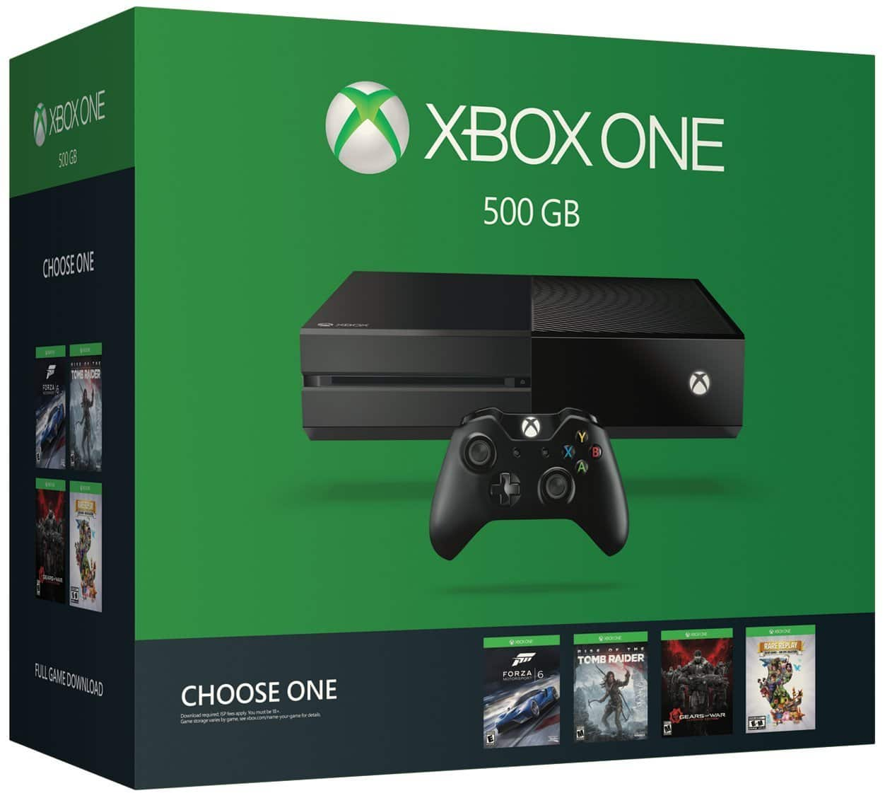 500GB Xbox One Name Your Game Console Bundle + Choice of Game + Extra Controller  $250 + Free Shipping