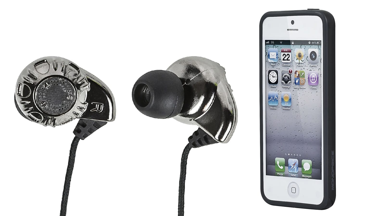*back again* Monoprice Enhanced Bass Hi-Fi Noise Isolating Earphones (silver) + iPhone Case $4.25 + Free shipping (additional earphones $2.54 each)