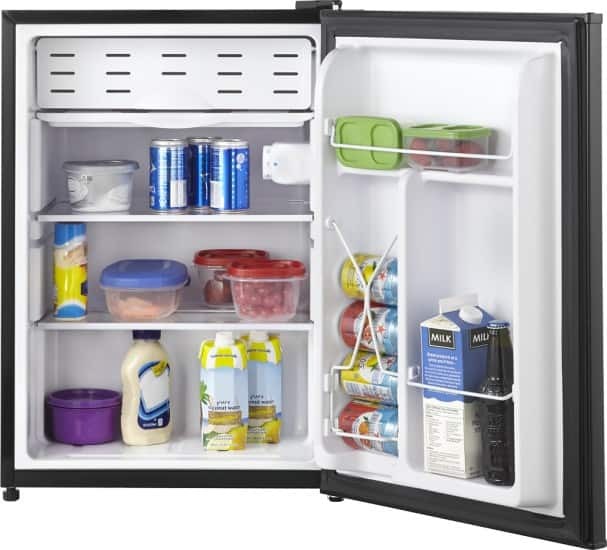 Insignia 2.6 Cu. Ft. Compact Refrigerator (Black) $49.99 ($41.99 for Open Box-Excellent) w/ Best Buy EDU Coupon + Free Shipping