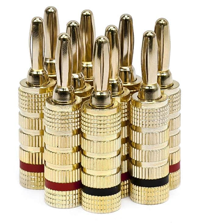 5-Pairs Gold Plated Speaker Banana Plugs (Closed Screw Type)  $4.70 + Free Shipping