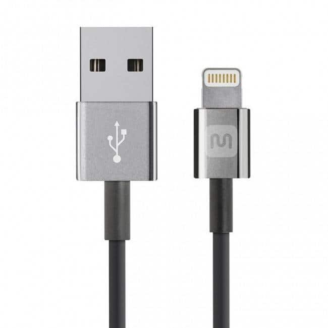 3' Monoprice MFi Certified Lightning Charge & Sync Cable for Apple Devices  $5 + Free Shipping