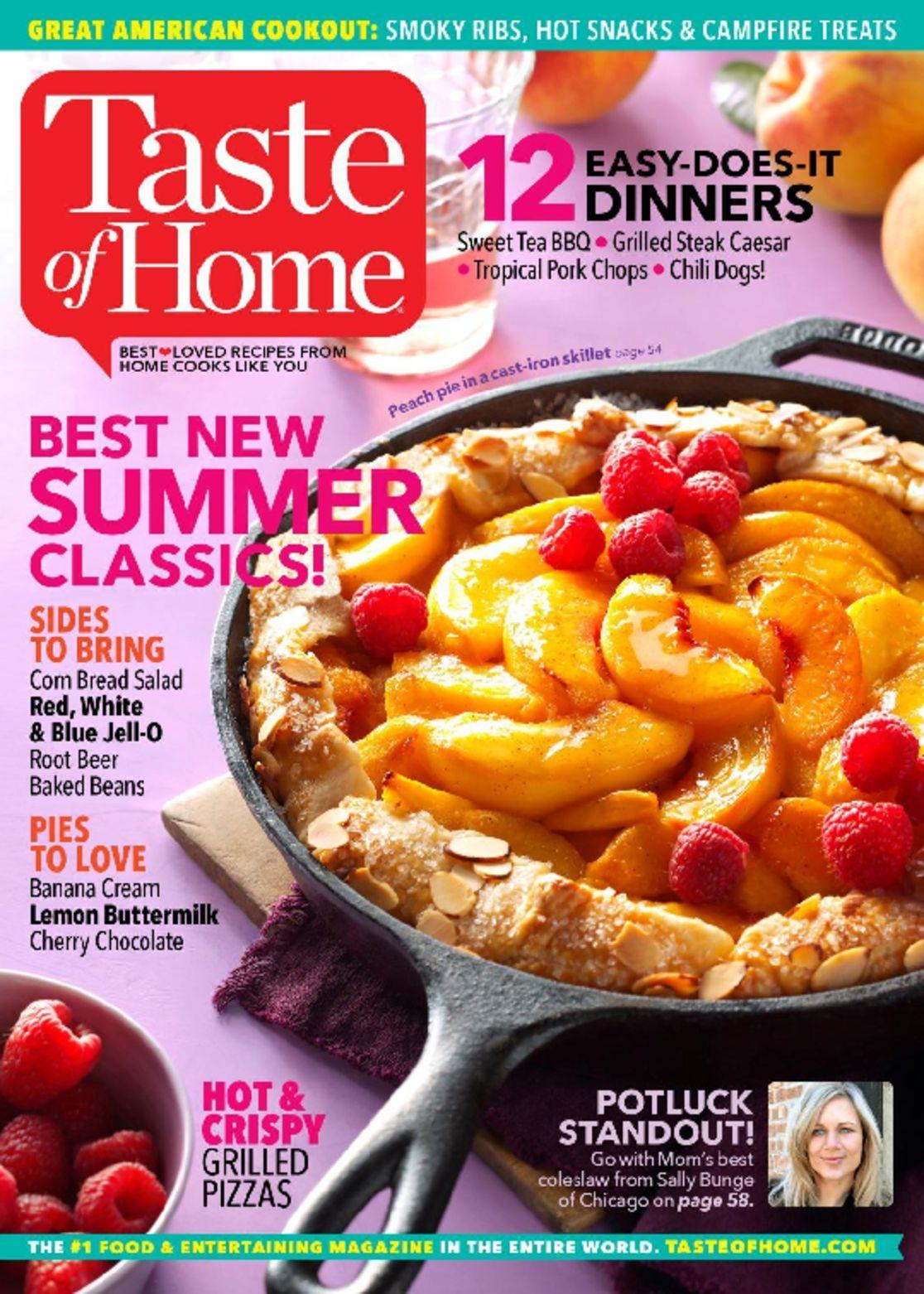 Taste of Home or Saveur Magazine  $5/yr.