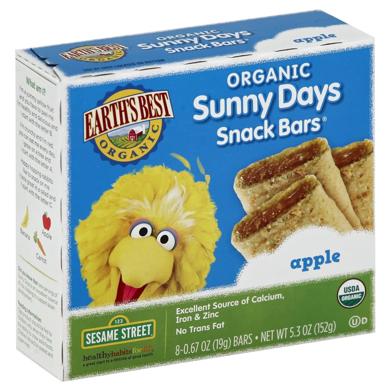 6-Pack of 8-Count Earth's Best Organic Sunny Days Snack Bars (Apple) $2.74 + Free Shipping