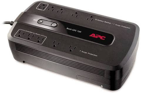 APC 750VA BE750G 10-Outlet Battery Backup & Surge Protector UPS $30 + Free Shipping on $35