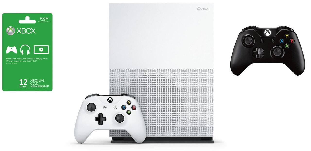 2TB Xbox One S Console + Extra Controller + 12-Month Xbox Live Gold Membership  $400 + Free Shipping