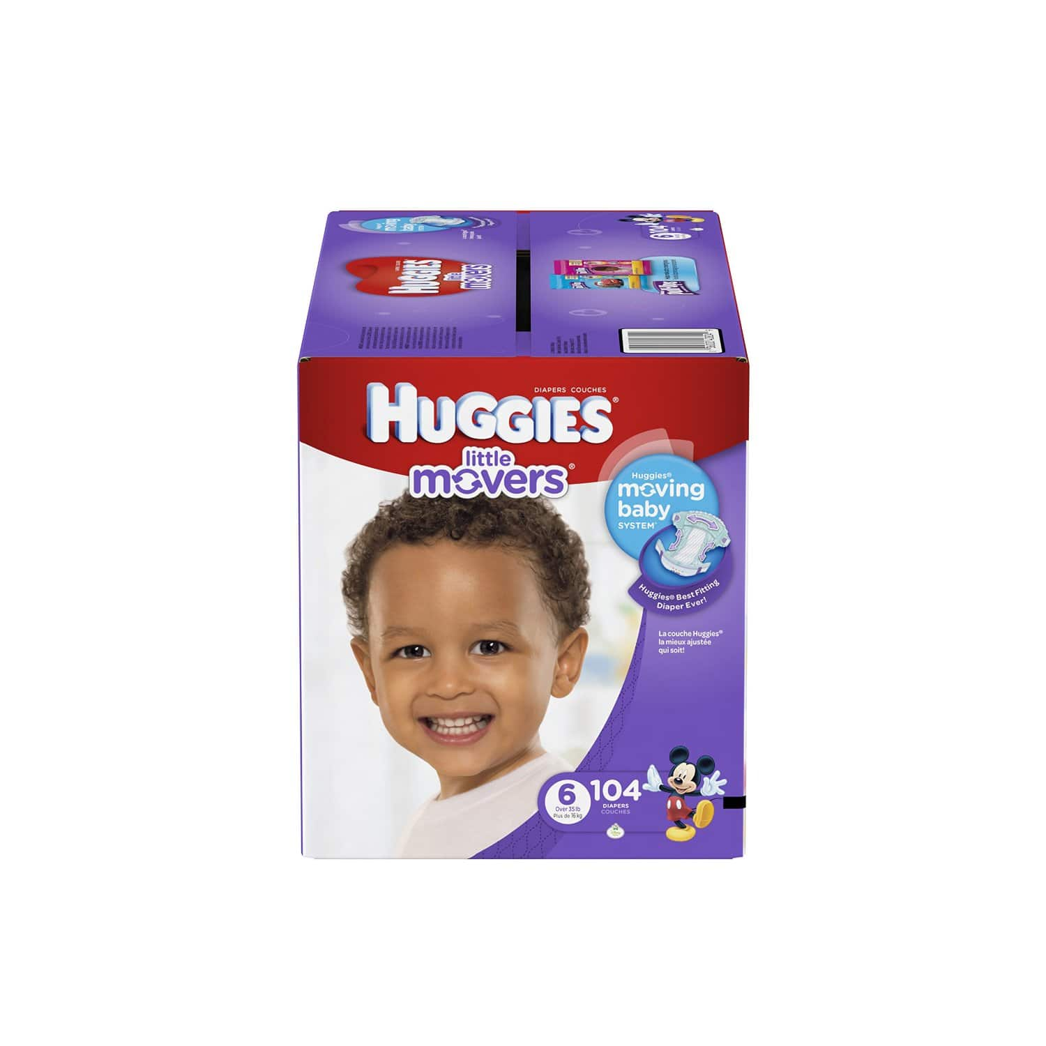 Prime Members: 104-Ct Huggies Little Movers Diapers (Size 6) & More  from $16.70 + Free Shipping