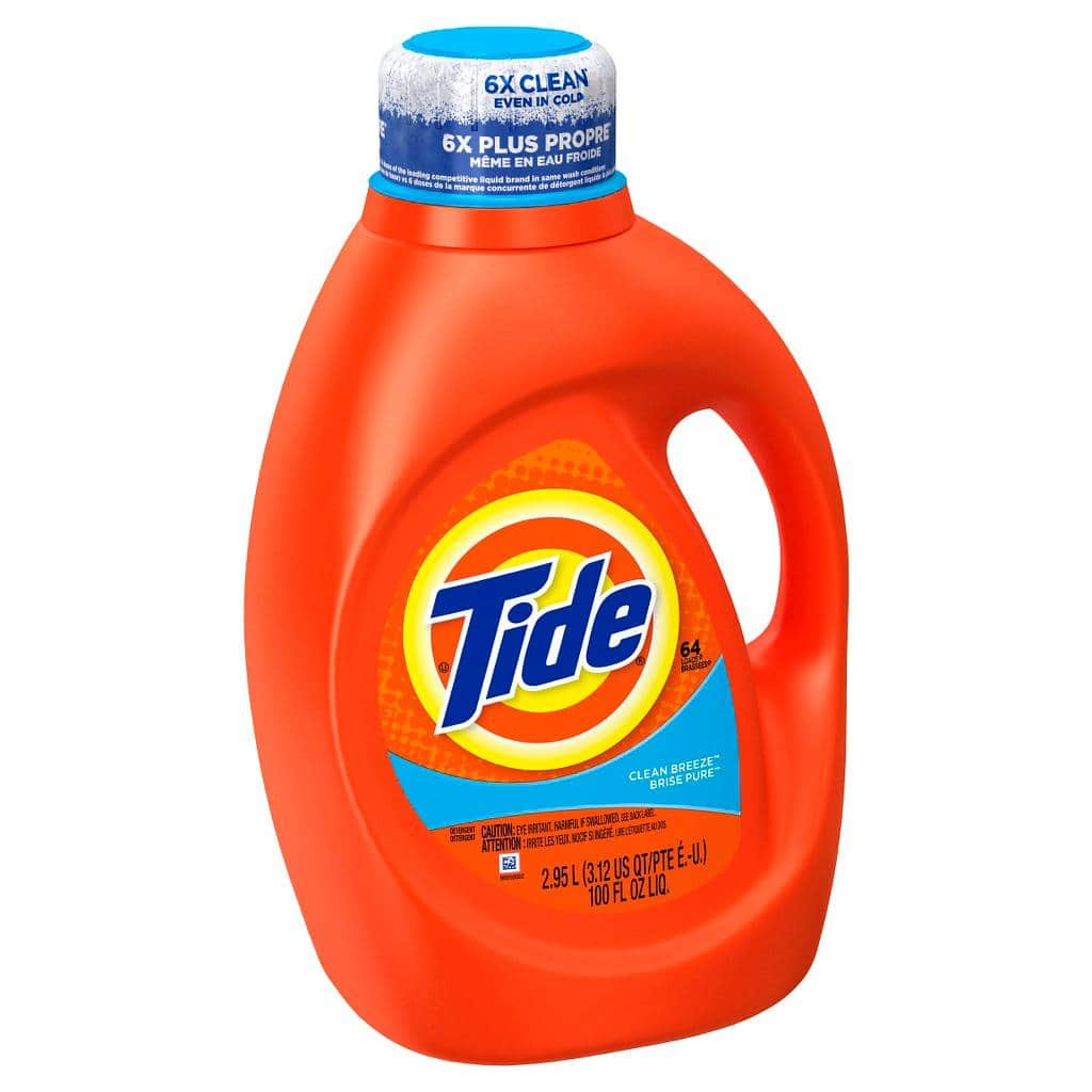 2-Ct 100oz Tide Liquid Laundry Detergent + $5 Target Gift Card  $17.60 & More + Free S&H
