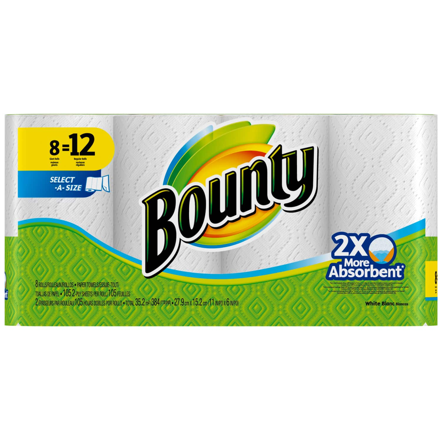 2-Pack 8-Ct Bounty Select-A-Size Giant Roll Paper Towels + $5 Target Gift Card  $16 & More + Free S&H