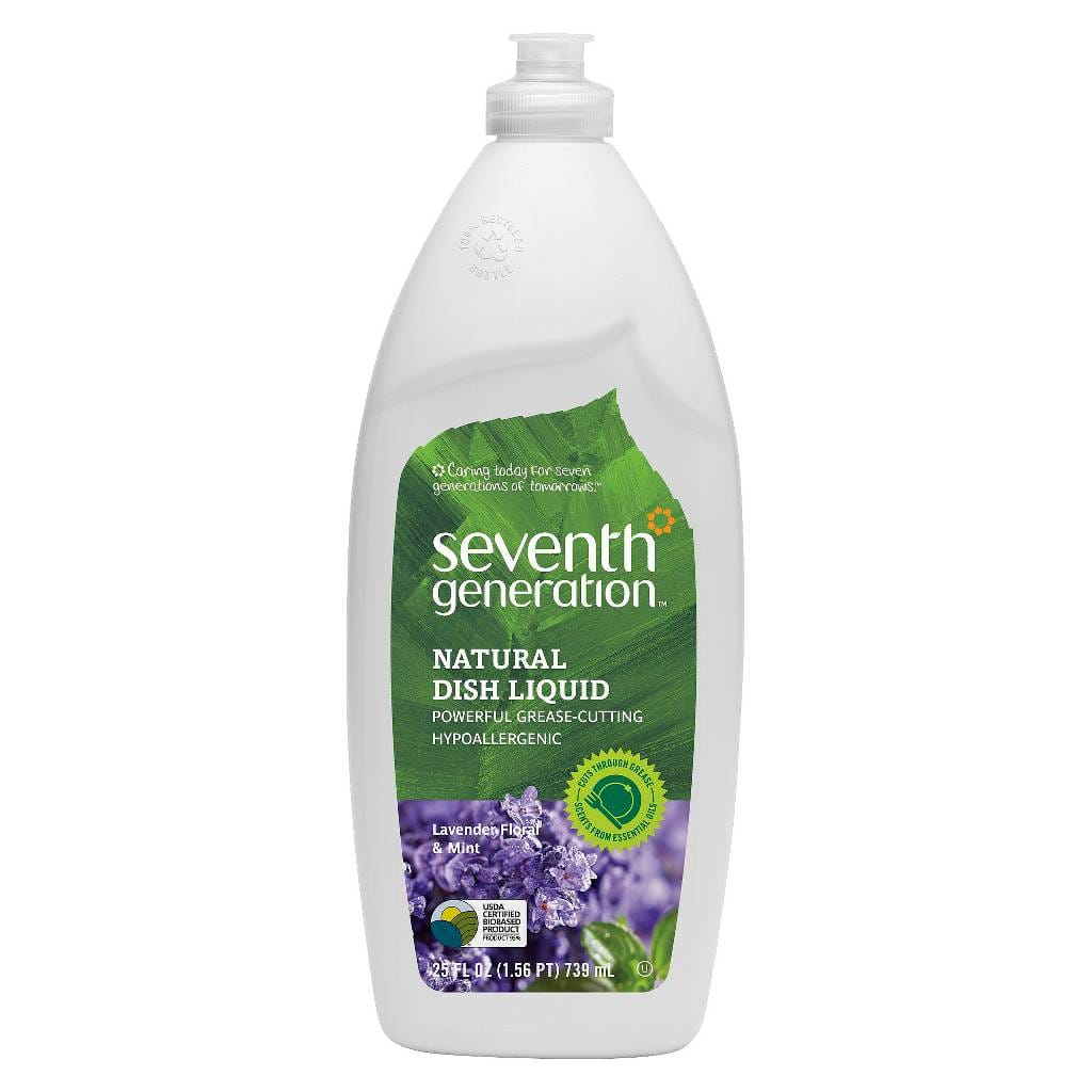 4-Pack Seventh Generation Products: 25oz Natural Dish Liquid (Various)  $7.20 & More + Free S&H