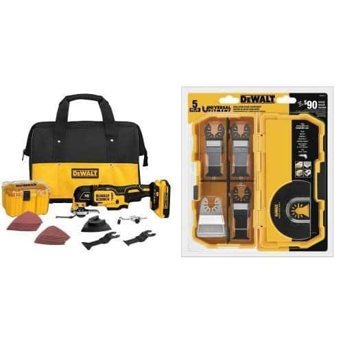 DeWALT 20V XR Brushless Oscillating Multi-Tool Kit + 5-Piece Accessory Kit  $159 & More + Free S&H