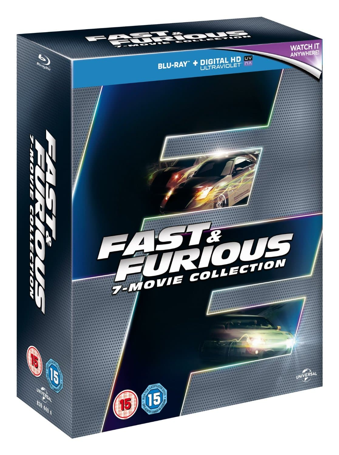 Fast & Furious 7-Movie Collection (Region Free Blu-Ray)  $26.70
