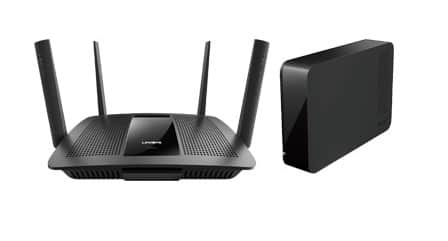 Linksys EA8500 AC2600 Wi-Fi Router + 3TB Buffalo USB 3.0 External Hard Drive  $200
