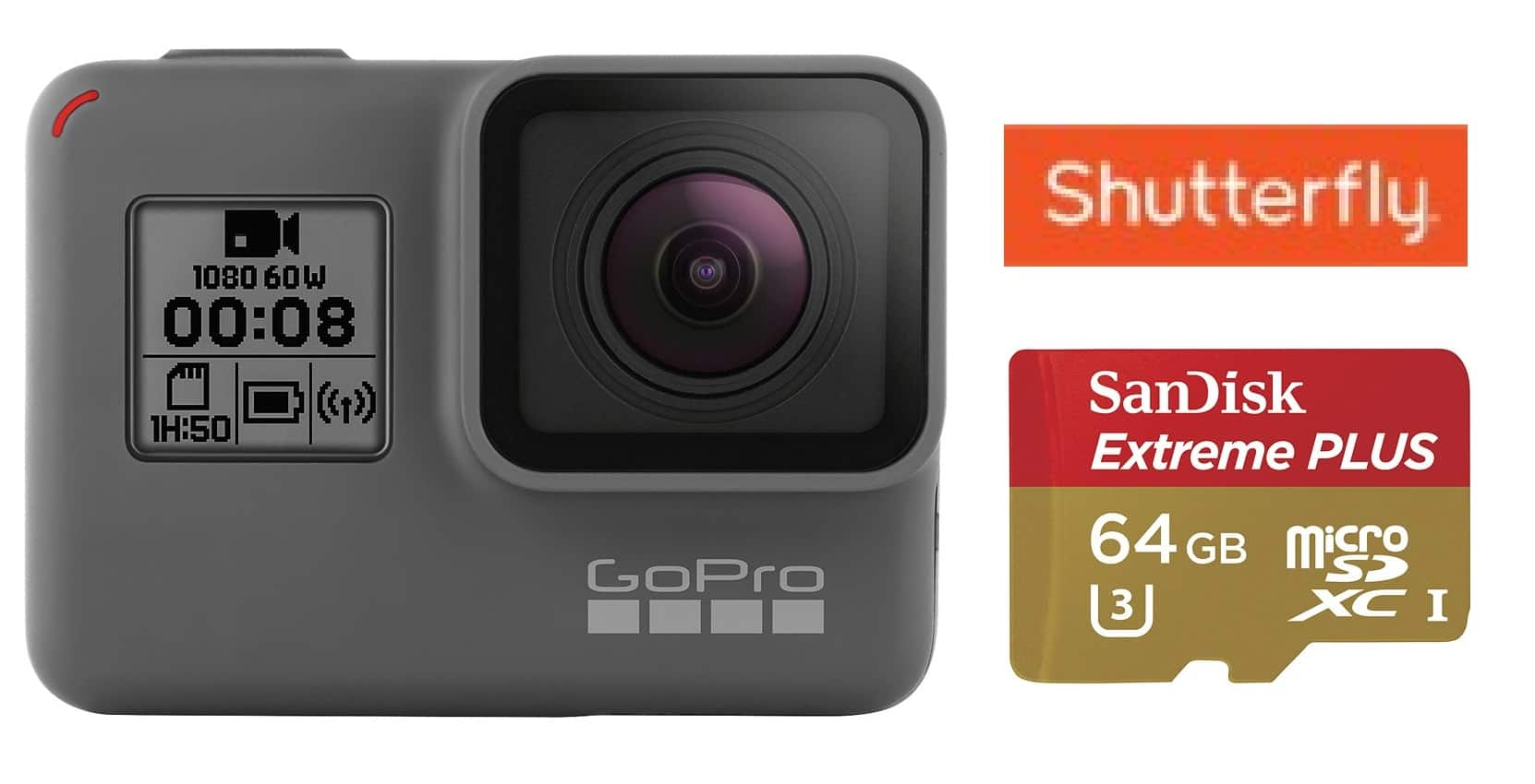 GoPro HERO5 Black 4K Action Camera + 64GB Sandisk Extreme Plus MicroSD Card  $400 & More + Free S&H