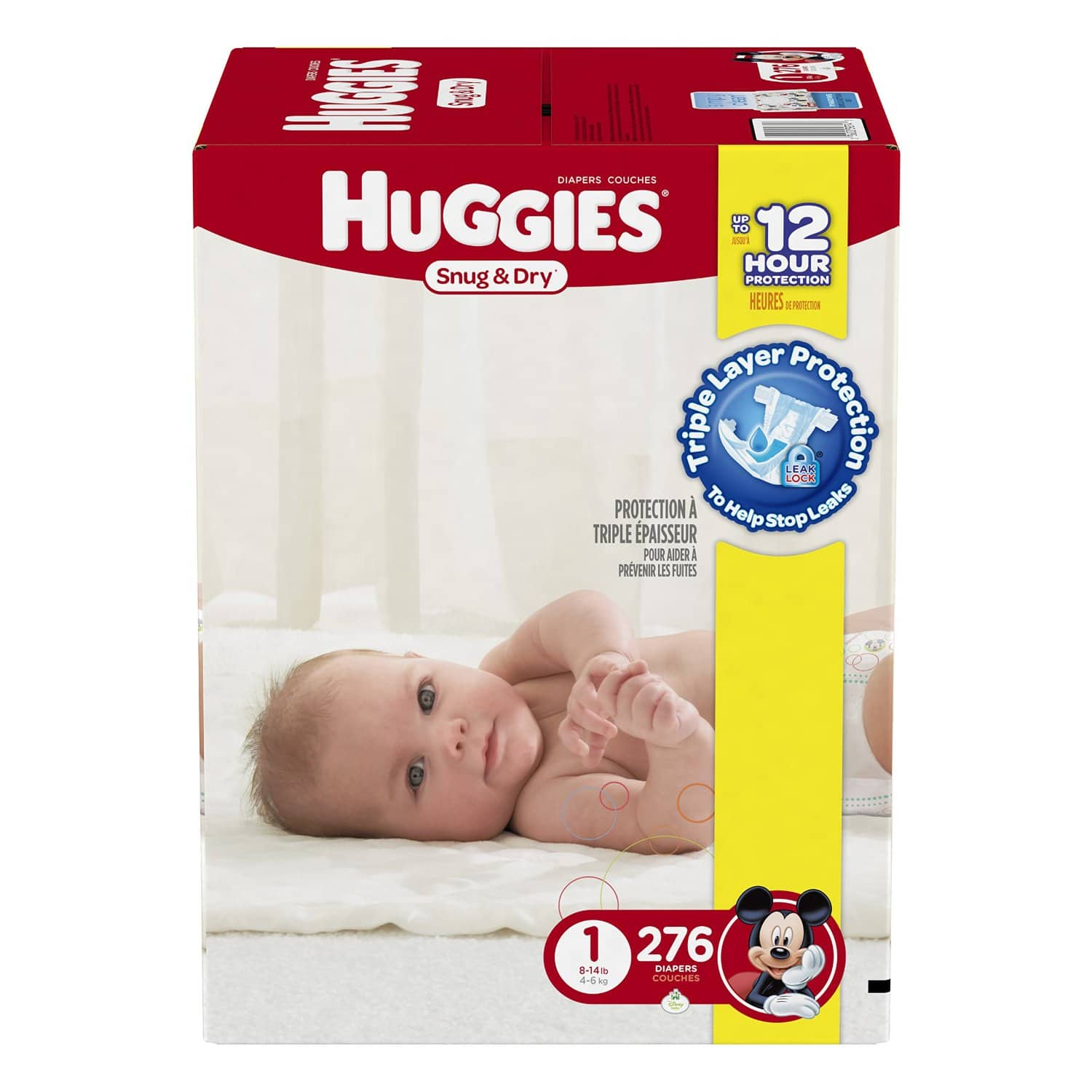 Select Prime Members: Huggies Snug & Dry Diapers: 276-Ct Size 1, 246-Ct Size 2  $25.40 & More + Free S&H