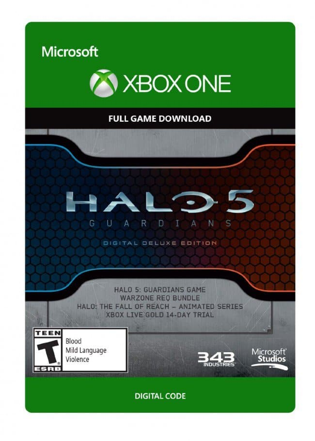 Halo 5: Guardians Digital Deluxe Edition for Xbox One (Digital Delivery)  $17.29