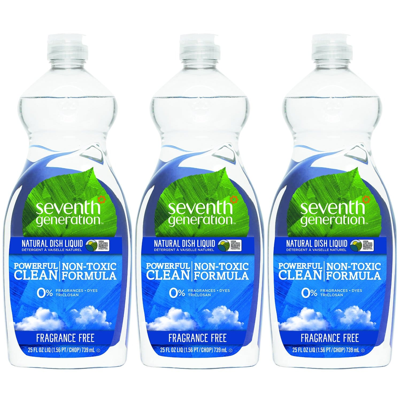 Prime Members: 3-Pack 25-Oz Seventh Generation Natural Dish Liquid  $5.25 + Free Shipping