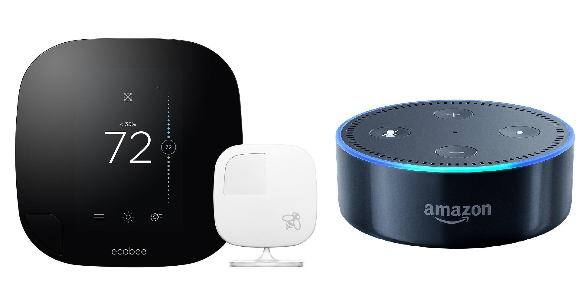 ecobee3 Touchscreen Wi-Fi Thermostat + Amazon Echo Dot (Pre-Order)  $200 + Free Shipping