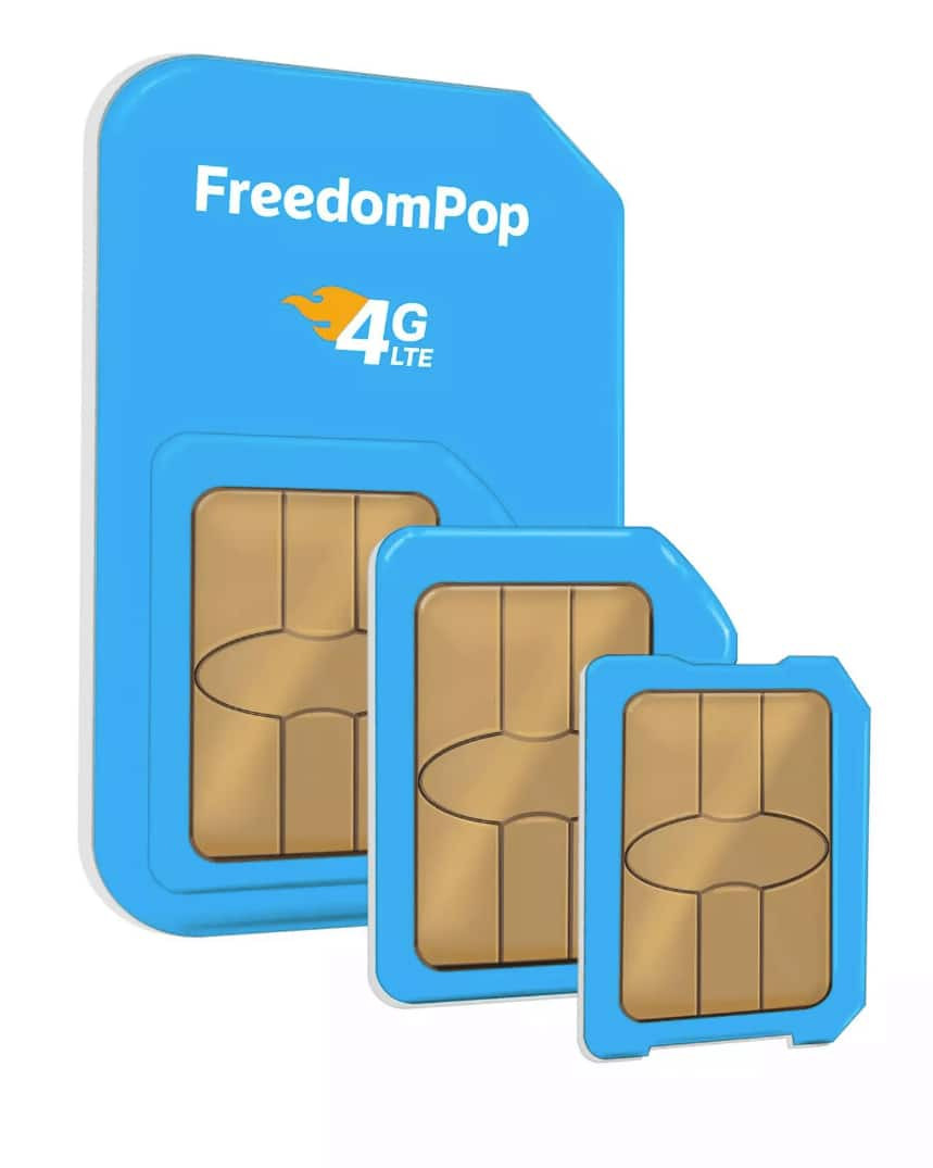 FreedomPop 3-In-1 4G LTE SIM Kit: Unlimited Talk & Text +