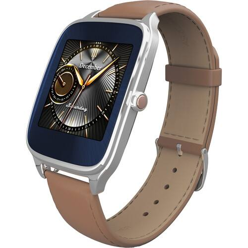 Asus ZenWatch 2 45mm Android Wear Smartwatch (Silver Case / Beige Leather Band) $79.99 + Free Shipping @ B&H