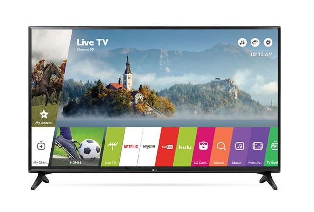 """43"""" LG 43LJ5500 1080p Smart TV + $100 Dell Gift Card - $275 after $50 Slickdeals Rebate + Free S&H"""