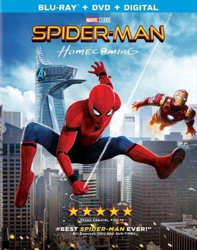 Spider-Man: Homecoming (Blu-ray + DVD + Digital) $7.99 + Free Shipping w/ Prime @ Amazon