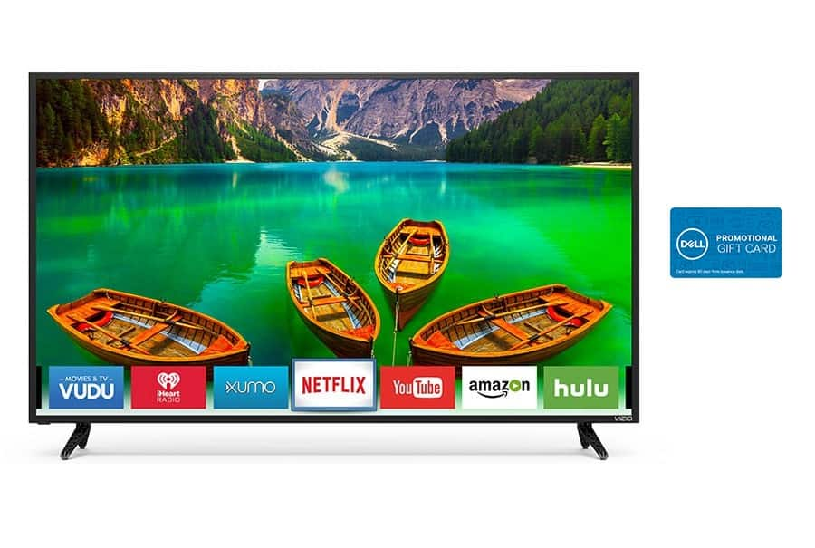 "65"" Vizio D65-E0 4K Ultra HD Smart TV + $250 Dell Gift Card $649.99 after $150 Slickdeals Rebate + Free Shipping"