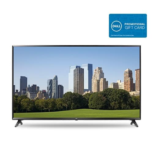 "49"" LG 49UJ6300 4K Ultra HD Smart TV + $100 Dell Gift Card $349.99 after $50 Slickdeals Rebate + Free Shipping"