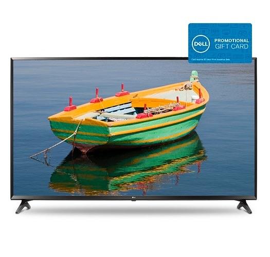 "65"" LG 65UJ6300 4K Ultra HD Smart TV + $150 Dell Gift Card $649.99 after $150 Slickdeals Rebate + Free Shipping"