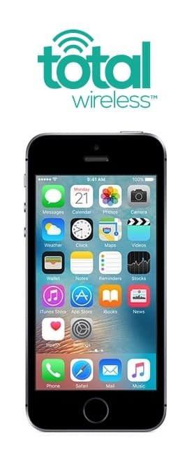 Total Wireless: 32GB Apple iPhone SE (Refurbished) + 1-Month Prepaid Service (UNL Talk / Text + 5GB LTE Data) $107 + Free S/H