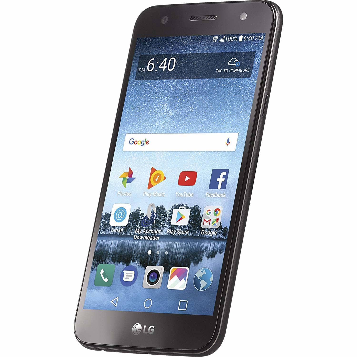 Simple Mobile LG Fiesta 2 Prepaid Smartphone + 1-Month of the $50 Unlimited Talk / Text / LTE Data Plan - $50 + Free Shipping - Amazon