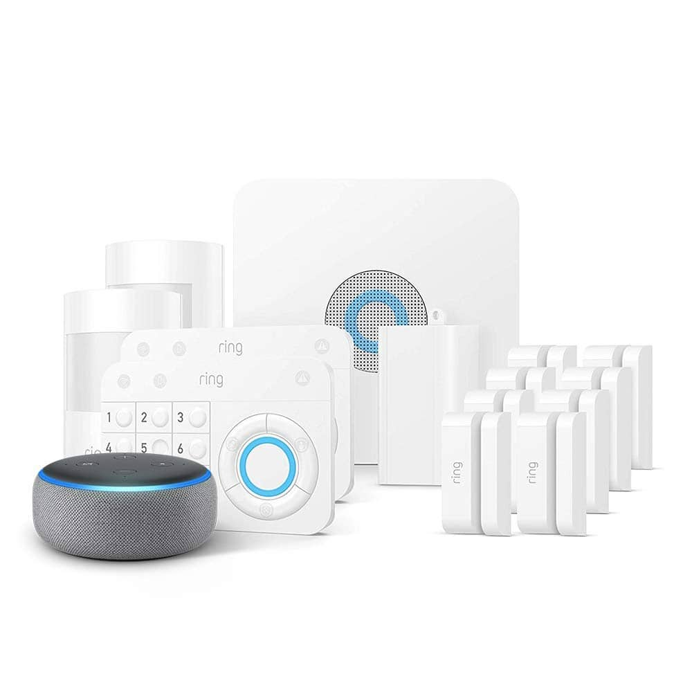 Ring Alarm 14-Piece Home Security Kit + Echo Dot 3rd Gen