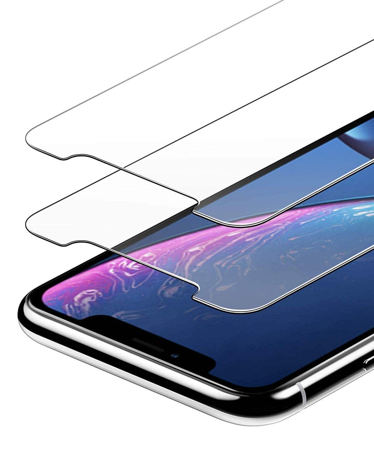 2-Pack Anker GlassGuard Screen Protectors for iPhone XR/11 or Xs Max/11 Pro Max $3