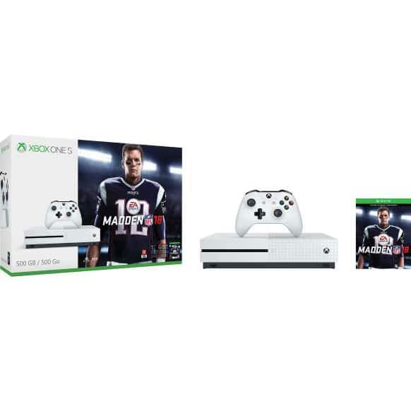 Microsoft Xbox One S Console Bundles: 500GB Madden 18 Bundle $149, 1TB Minecraft Creators Bundle $179, 1TB NBA 2K19 Bundle $179 + Free Shipping @ Fry's