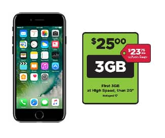 Simple Mobile Reconditioned 32GB Apple iPhone 7 - Black (Locked) + 30-day $25 3GB Prepaid Plan - $107.50 (after 25% Off email coupon) + Free Shipping
