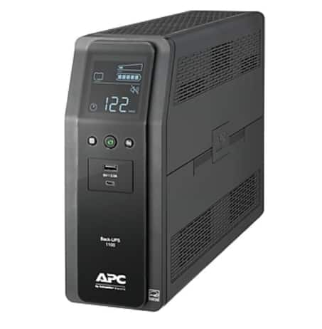 APC Back-UPS Pro UPS Battery Back Up, 10 Outlet, Black (BN1100M2) -- $100 @ Staples with Free Next-Day Shipping