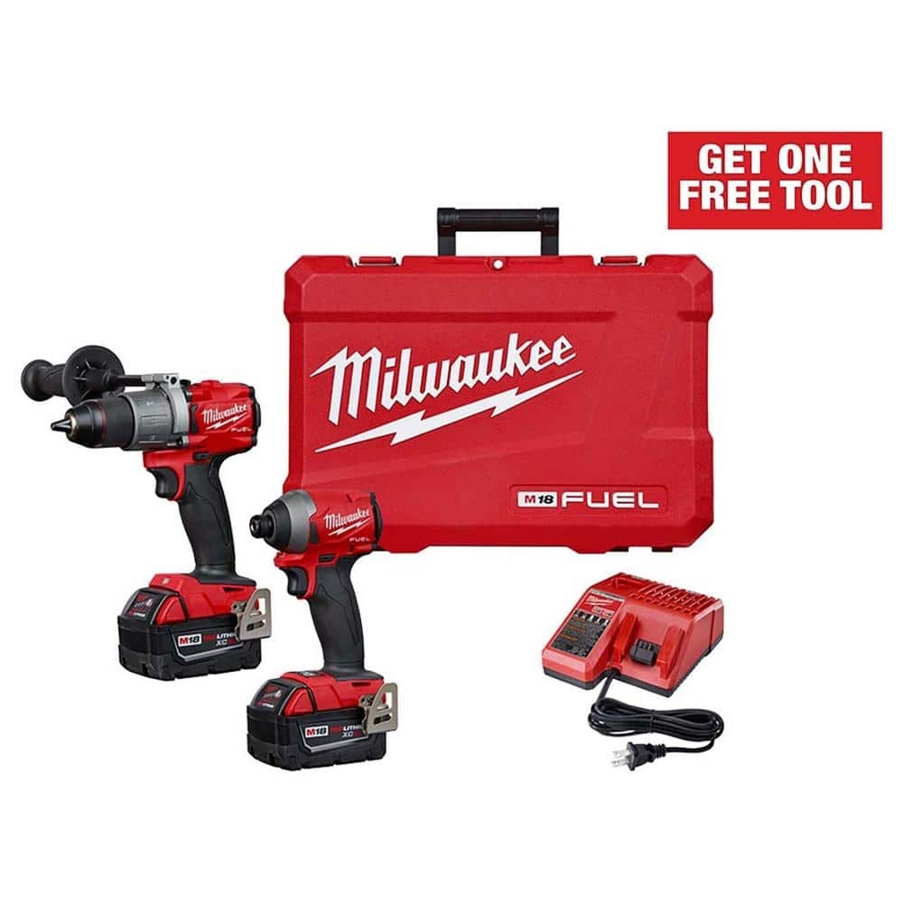"Milwaukee M18 FUEL Hammer Drill/Impact Driver Combo Kit + Free Tool (""hackable"")"