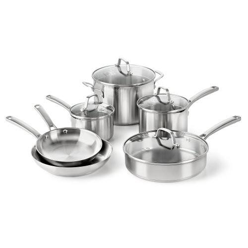 Calphalon Classic Stainless Steel Cookware Set, 10-Piece [10-Piece] $97.99