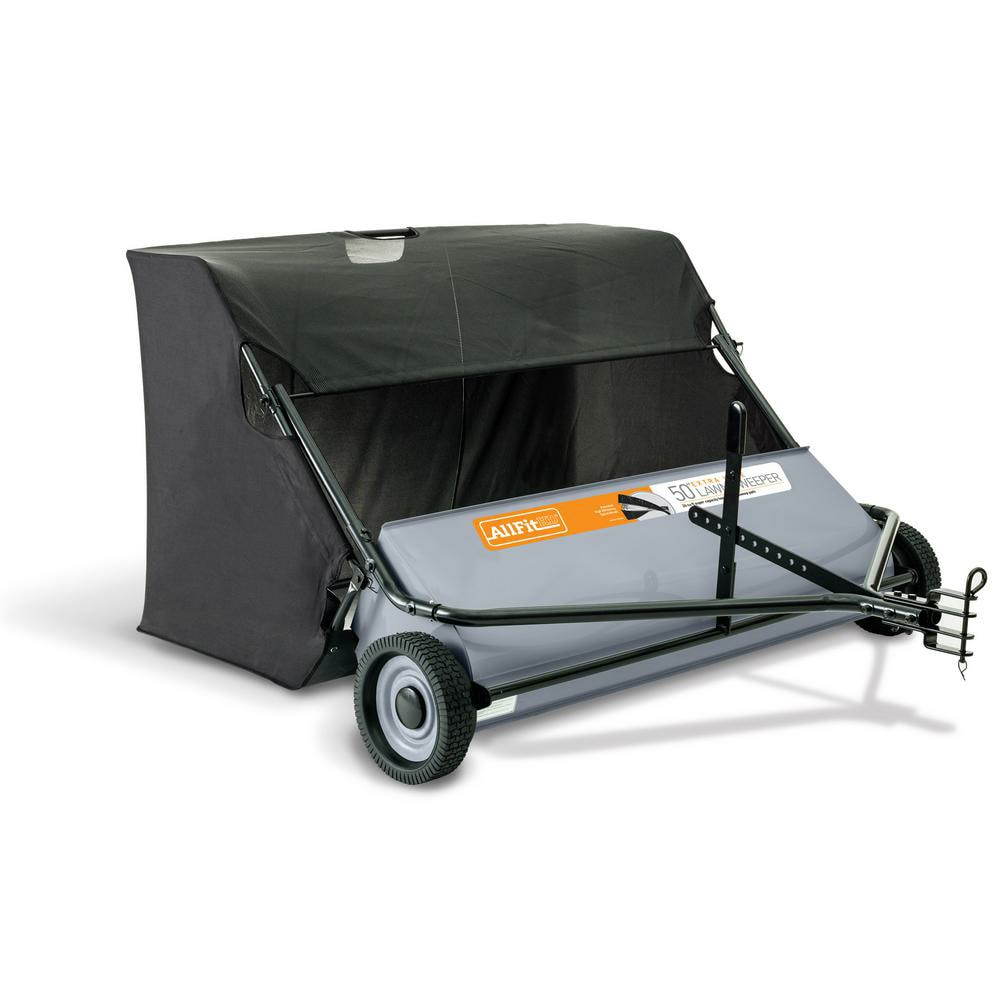 AllFitHD 50 in. 26 cu. ft.  pull behind Lawn Sweeper - The Home Depot was $300+. $83.03 on clearance ymmv.