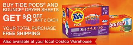 Costco members Deal - Tide Pods 152 Loads + Bounce Dryer Sheets 320-Count - $31.98 + Tax